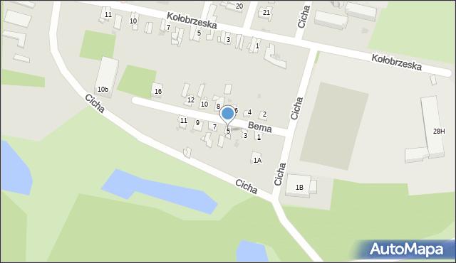 Bytom, Bema Józefa, gen., 5, mapa Bytomia