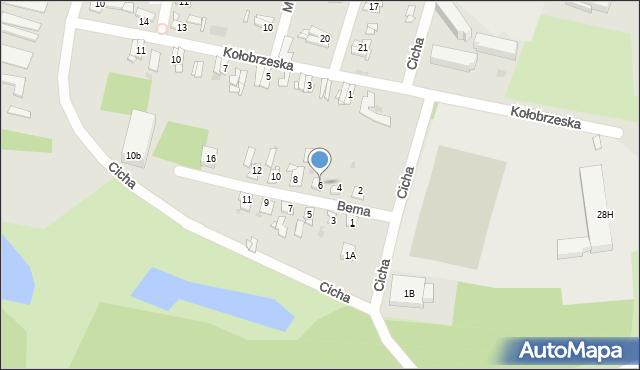 Bytom, Bema Józefa, gen., 6, mapa Bytomia