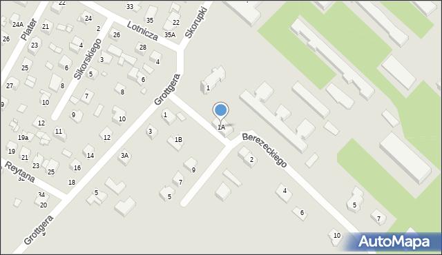 Chełm, Berezeckiego Zygfryda, ks., 1A, mapa Chełma