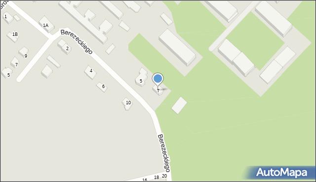 Chełm, Berezeckiego Zygfryda, ks., 7, mapa Chełma