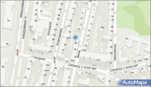 Gdynia, Bema Józefa, gen., 16, mapa Gdyni