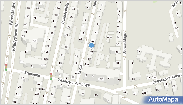 Gdynia, Bema Józefa, gen., 17, mapa Gdyni
