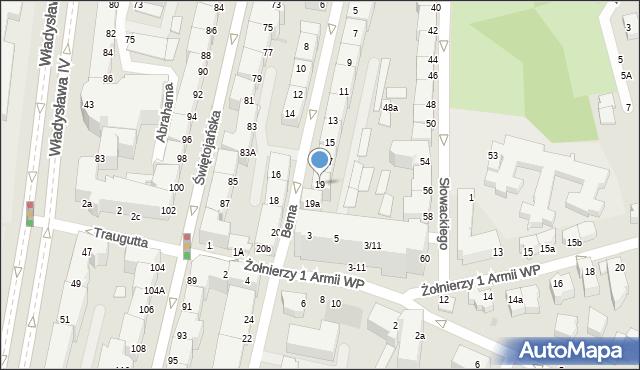 Gdynia, Bema Józefa, gen., 19, mapa Gdyni