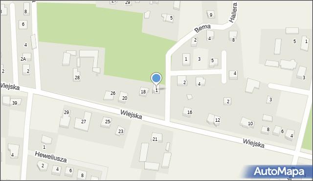 Kębłowo, Bema Józefa, gen., 1, mapa Kębłowo