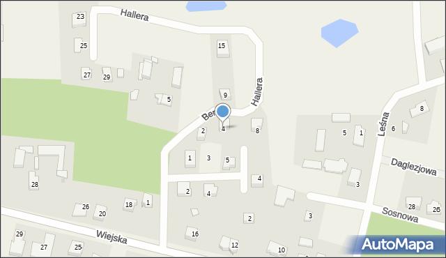 Kębłowo, Bema Józefa, gen., 4, mapa Kębłowo