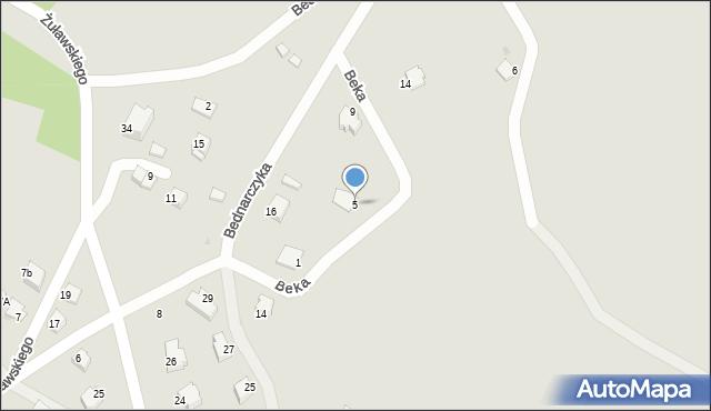 Limanowa, Beka Józefa, 5, mapa Limanowa