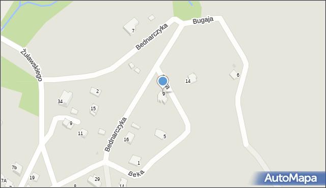 Limanowa, Beka Józefa, 9, mapa Limanowa