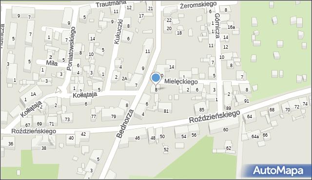 Piekary Śląskie, Bednorza Herberta, bp., 8, mapa Piekary Śląskie