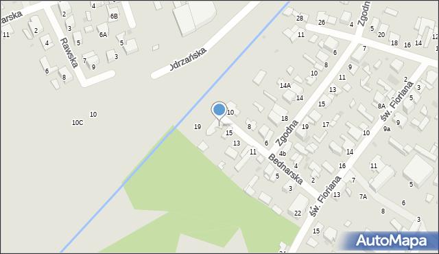 Radom, Bednarska, 17, mapa Radomia