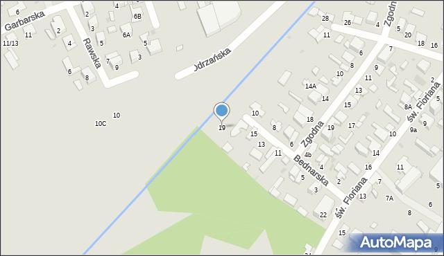 Radom, Bednarska, 19, mapa Radomia