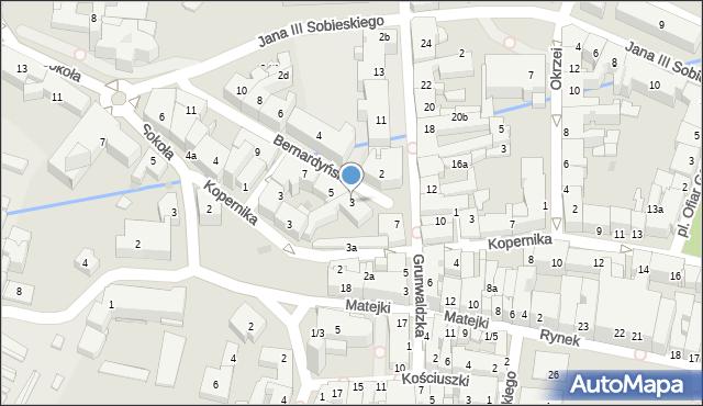 Rzeszów, Bernardyńska, 3, mapa Rzeszów