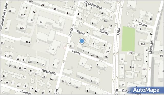 Sosnowiec, Bema Józefa, gen., 6, mapa Sosnowca