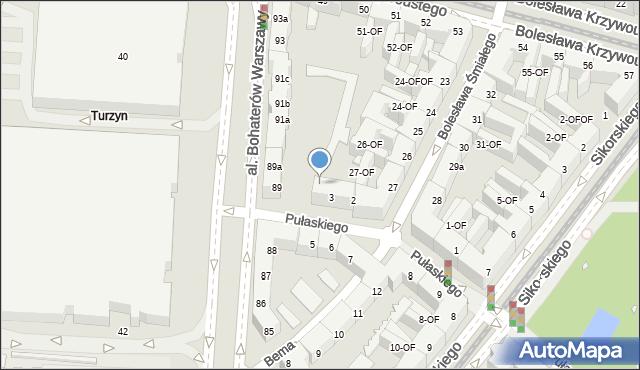 Szczecin, Bema Józefa, gen., 1, mapa Szczecina