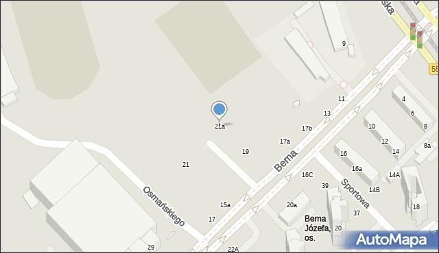 Toruń, Bema Józefa, gen., 21a, mapa Torunia