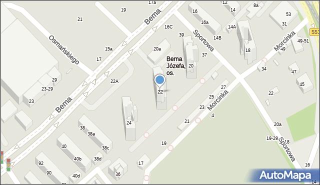 Toruń, Bema Józefa, gen., 22, mapa Torunia