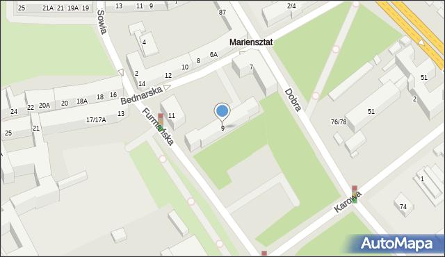 Warszawa, Bednarska, 9, mapa Warszawy