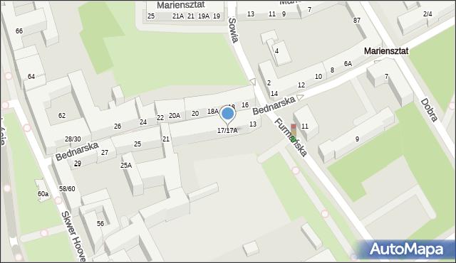Warszawa, Bednarska, 17/17A, mapa Warszawy