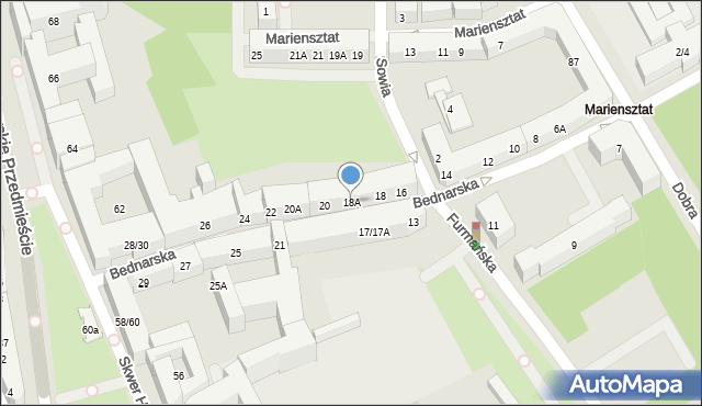 Warszawa, Bednarska, 18A, mapa Warszawy