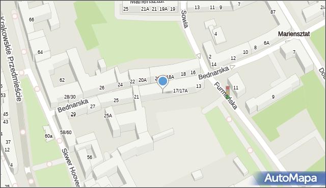 Warszawa, Bednarska, 19/19A, mapa Warszawy