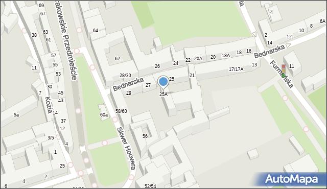 Warszawa, Bednarska, 25A, mapa Warszawy