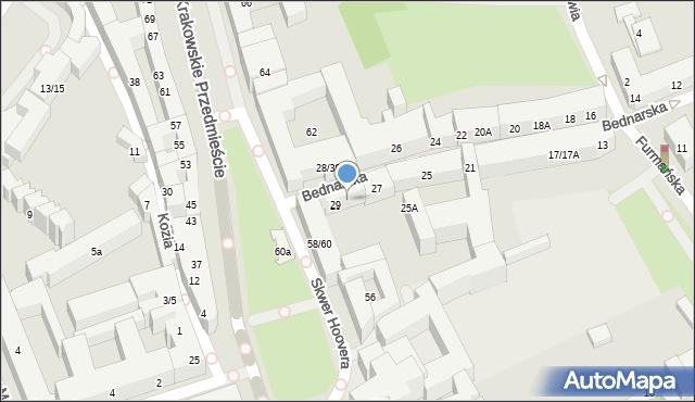 Warszawa, Bednarska, 29/31, mapa Warszawy