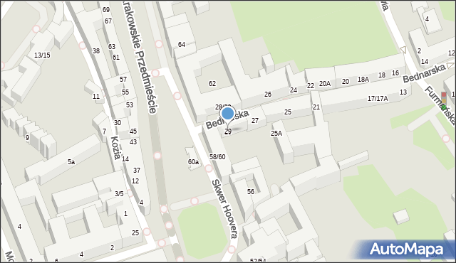 Warszawa, Bednarska, 29, mapa Warszawy