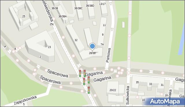 Warszawa, Belwederska, 26/30, mapa Warszawy