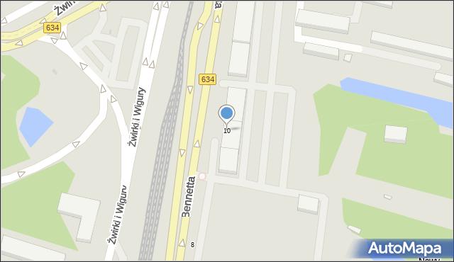 Warszawa, Bennetta Jamesa Gordona, 10, mapa Warszawy