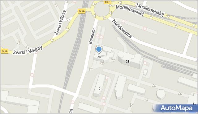 Warszawa, Bennetta Jamesa Gordona, 2A, mapa Warszawy