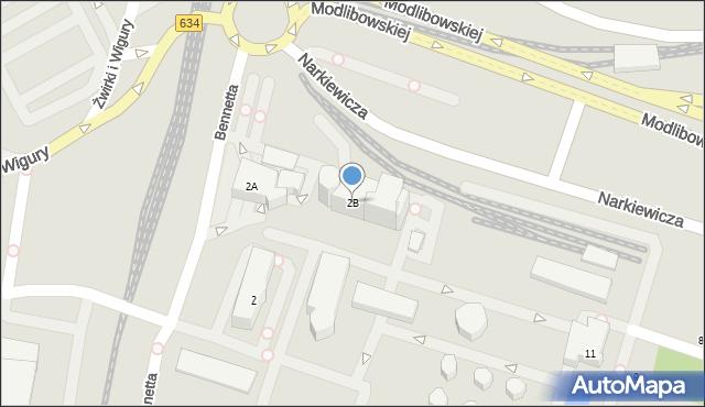 Warszawa, Bennetta Jamesa Gordona, 2B, mapa Warszawy