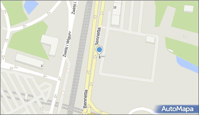Warszawa, Bennetta Jamesa Gordona, 8, mapa Warszawy