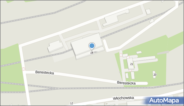 Warszawa, Berestecka, 15, mapa Warszawy