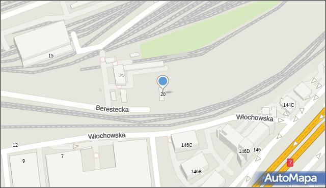 Warszawa, Berestecka, 20, mapa Warszawy