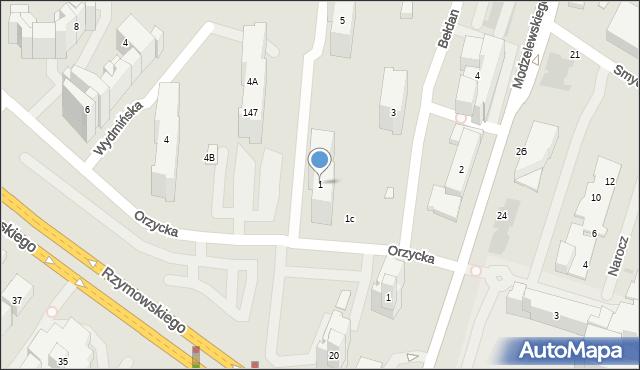 Warszawa, Bełdan, 1, mapa Warszawy