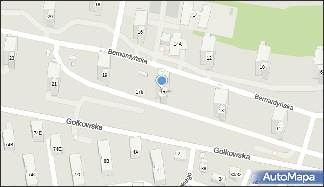 Warszawa, Bernardyńska, 17, mapa Warszawy