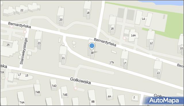 Warszawa, Bernardyńska, 19, mapa Warszawy