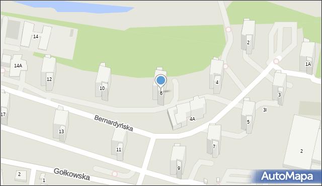 Warszawa, Bernardyńska, 6, mapa Warszawy