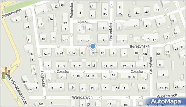 Warszawa, Berezyńska, 10, mapa Warszawy