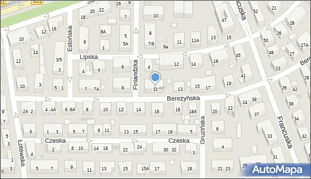 Warszawa, Berezyńska, 11, mapa Warszawy