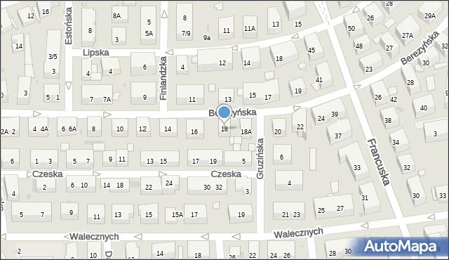 Warszawa, Berezyńska, 18, mapa Warszawy