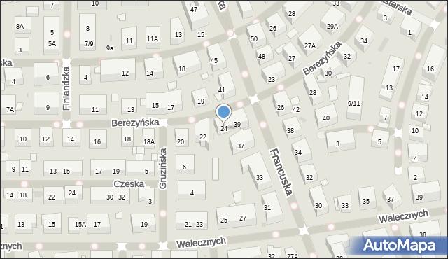Warszawa, Berezyńska, 24, mapa Warszawy