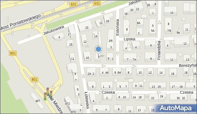 Warszawa, Berezyńska, 3, mapa Warszawy