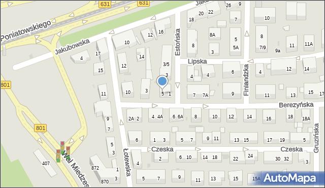 Warszawa, Berezyńska, 5, mapa Warszawy