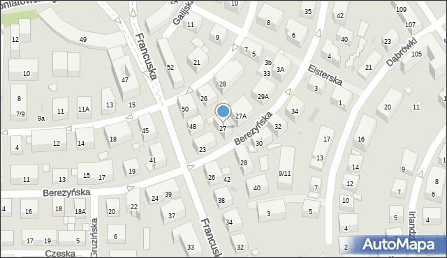 Warszawa, Berezyńska, 27, mapa Warszawy