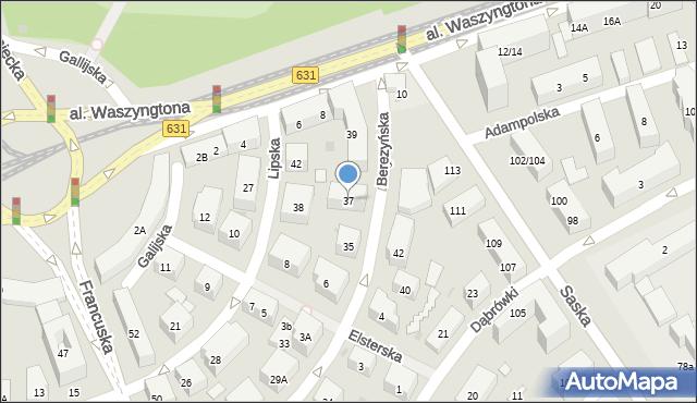 Warszawa, Berezyńska, 37, mapa Warszawy