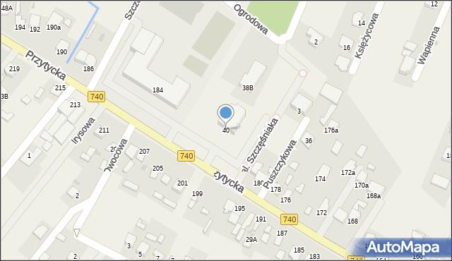 Bielicha, Bielicha, 40A, mapa Bielicha