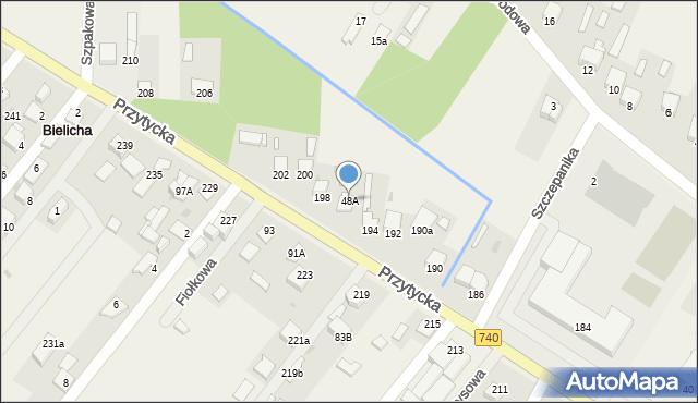 Bielicha, Bielicha, 44B, mapa Bielicha
