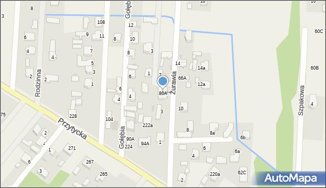 Bielicha, Bielicha, 74A, mapa Bielicha
