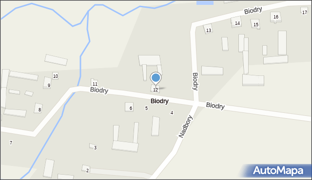 Biodry, Biodry, 12, mapa Biodry