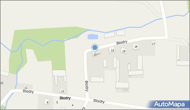 Biodry, Biodry, 13, mapa Biodry